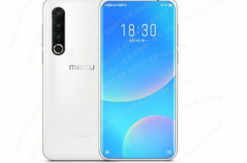 Meizu 17 с квадрокамерой позирует на рендере
