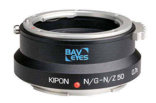 Адаптер Kipon Baveyes N/G-N/Z50 0.7 позволяет устанавливать полнокадровые объективы Nikon G на камеру Nikon Z 50 с сохранением угла поля зрения
