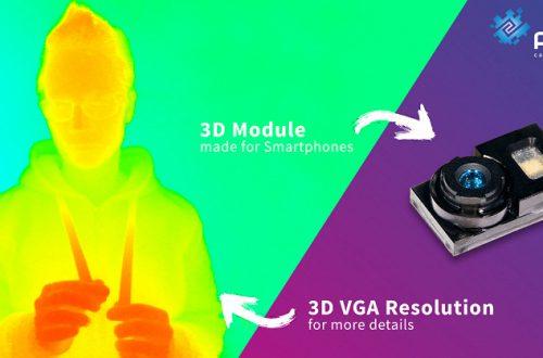 Представлен самый маленький модуль 3D ToF VGA