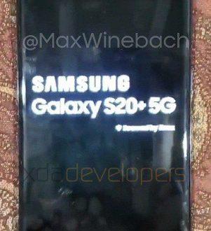Реальный Samsung Galaxy S20+ 5G впервые позирует на живых фото