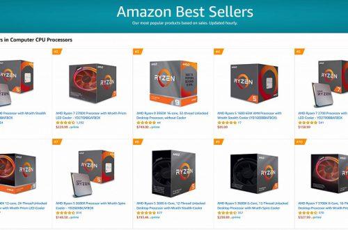 Зачем покупать Intel, если есть AMD? Процессоры Ryzen заняли 12 первых мест в рейтинге самых продаваемых CPU на Amazon