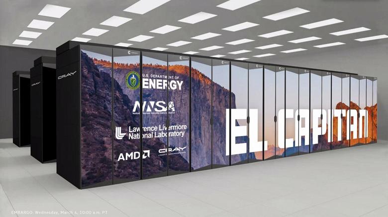 AMD представила самый мощный в мире суперкомпьютер El Capitan на основе CPU и GPU, которые выйдут не ранее следующего года