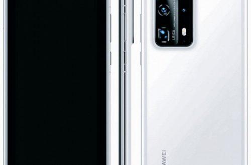 Huawei P40 Pro Plus 5G в белом цвете позирует на рендере в полный рост