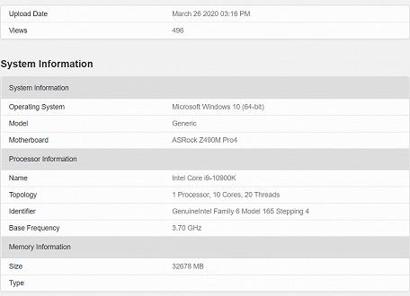 10-ядерный Intel Core i9-10900K неожиданно хорошо выступил в тесте Geekbench – на уровне 12-ядерного Ryzen 9 3900X