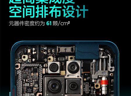 61 компонент на 1 квадратный сантиметр. Изображение Redmi K30 Pro изнутри демонстрирует очень плотную компоновку