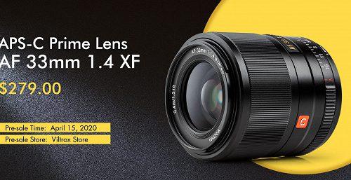 Объектив Viltrox AF 33/1.4 XF для беззеркальных камер формата APS-C оценен в 279 долларов