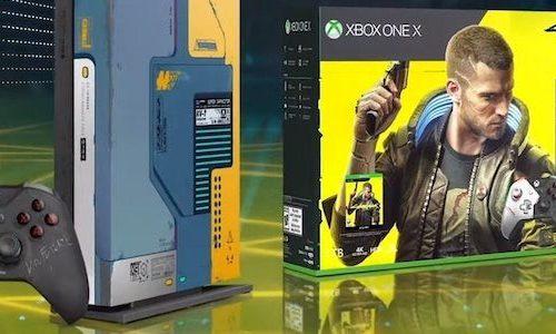 Дата выхода Xbox One X в стиле Cyberpunk 2077