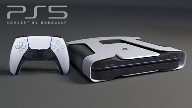 Как могла бы выглядеть PlayStation 5 в стиле DualSense и Xbox Series X