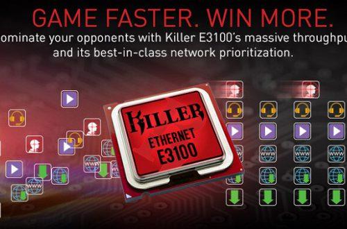 Сетевые адаптеры Rivet Networks Killer Ethernet E3100 для ноутбуков и системных плат поддерживают скорость 2,5 Гбит/с