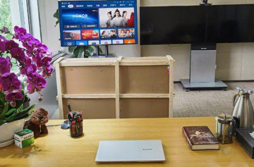 Новый 65-дюймовый телевизор Honor и MagicBook Pro c APU Ryzen 4000 на одной фотографии