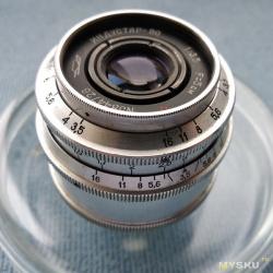 """Объектив Индустар-50 для дальномерных фотокамеркамер М39х1 28,8 мм. Из цикла """"Вторая жизнь советской оптики""""."""
