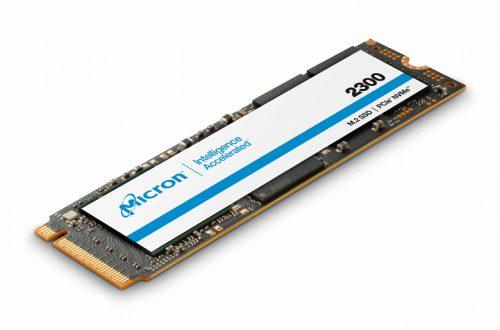 Серия твердотельных накопителей Micron 2300 включает модели объемом от 256 ГБ до 2 ТБ