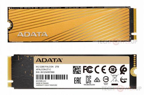 Накопители Adata Falcon типоразмера M.2 с интерфейсом PCIe Gen3 x4 выпускаются объемом до 2 ТБ