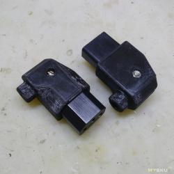 Угловые разъемы  IEC320 C13 для блоков питания. Дендрофекальный метод изготовления с применением 3Д принтера