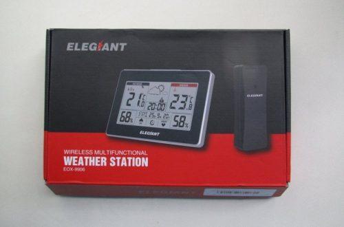 """Часы с беспроводным датчиком температуры и влажности и """"прогнозом погоды"""""""
